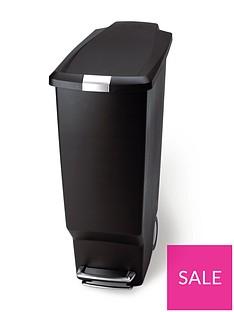 simplehuman-40-litre-slim-plastic-pedal-bin