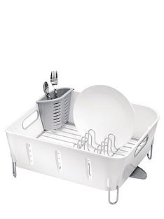simplehuman-compact-white-plastic-dishrack