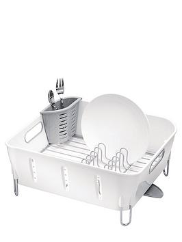 Simplehuman Compact White Plastic Dishrack Review thumbnail