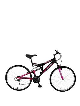 Image of Flite Taser Dual Suspension Ladies Mountain Bike 18 Inch Frame, Women