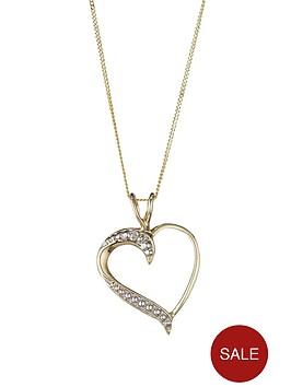 love-gold-9-carat-yellow-gold-diamond-set-heart-pendant
