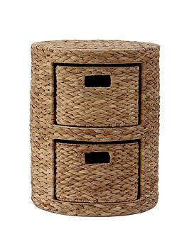 Arrow Weave Wicker Chest - Natural thumbnail