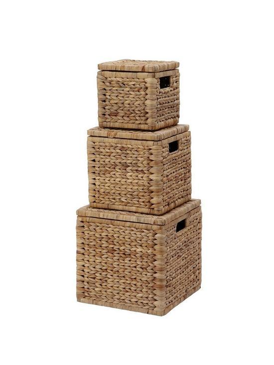 Arrow Weave Wicker Storage Baskets (Set Of 3) | Very.co.uk