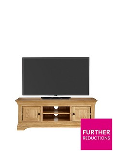 Luxe Collection Luxe Collection - Constance Oak Ready Assembled Large TV Unit - fits up to 60 inch TV