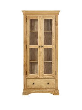Luxe Collection Constance Oak Ready Assembled Glass Door Display Cabinet