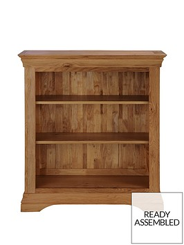 ideal-home-constance-ready-assembled-solid-oak-bookcase