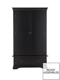 ideal-home-constance-ready-assembled-oak-2-door-1-drawer-wardrobe