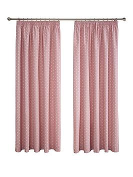 Dotty Thermal Blackout Pencil Pleat Curtains
