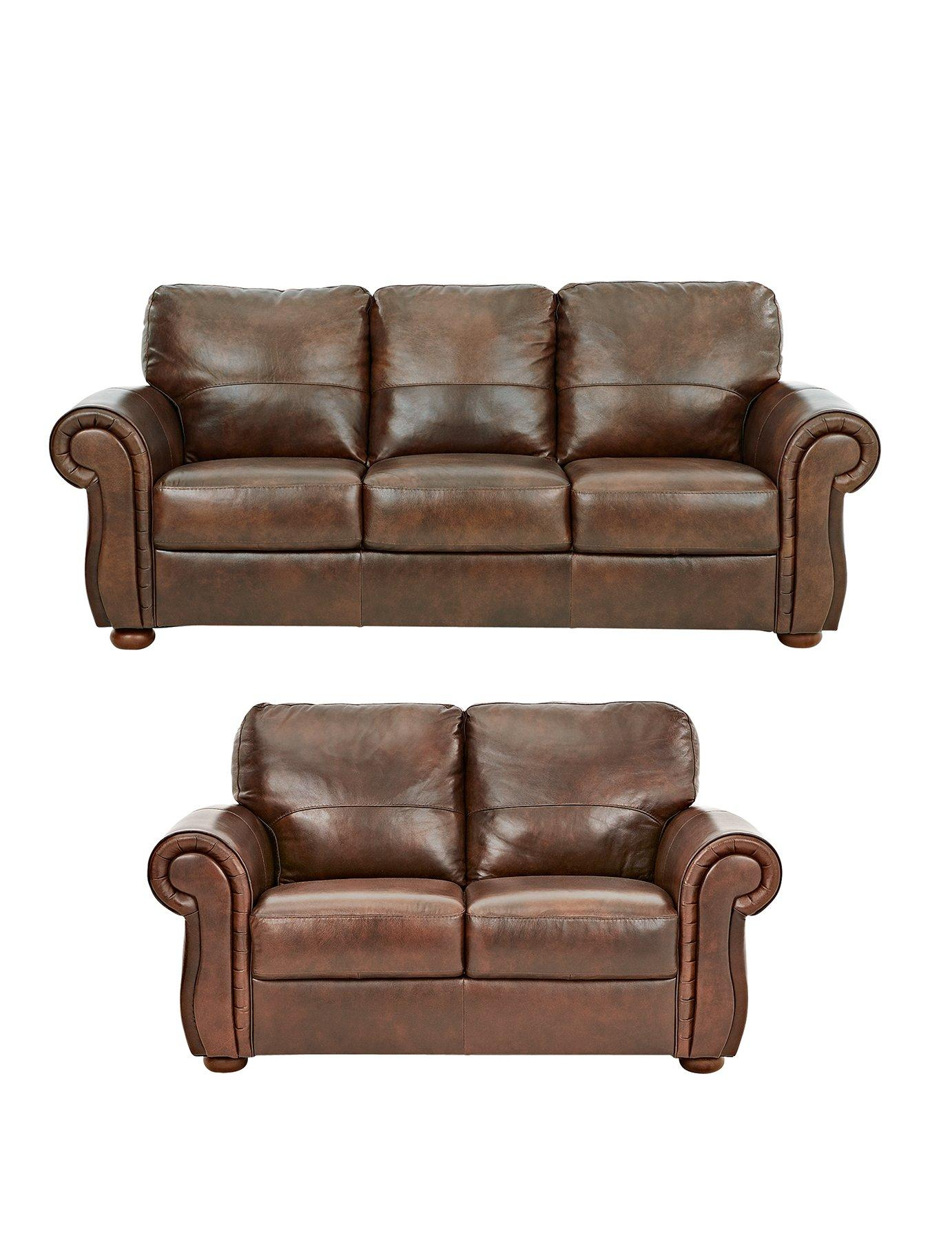 Cassina 3Seater 2Seater Italian Leather Sofa Set buy and SAVE