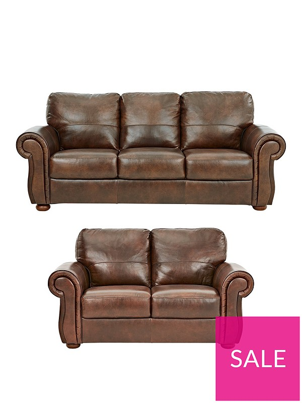 Cassina Italian Leather 3 Seater + 2 Seater Sofa Set (Buy and SAVE!)