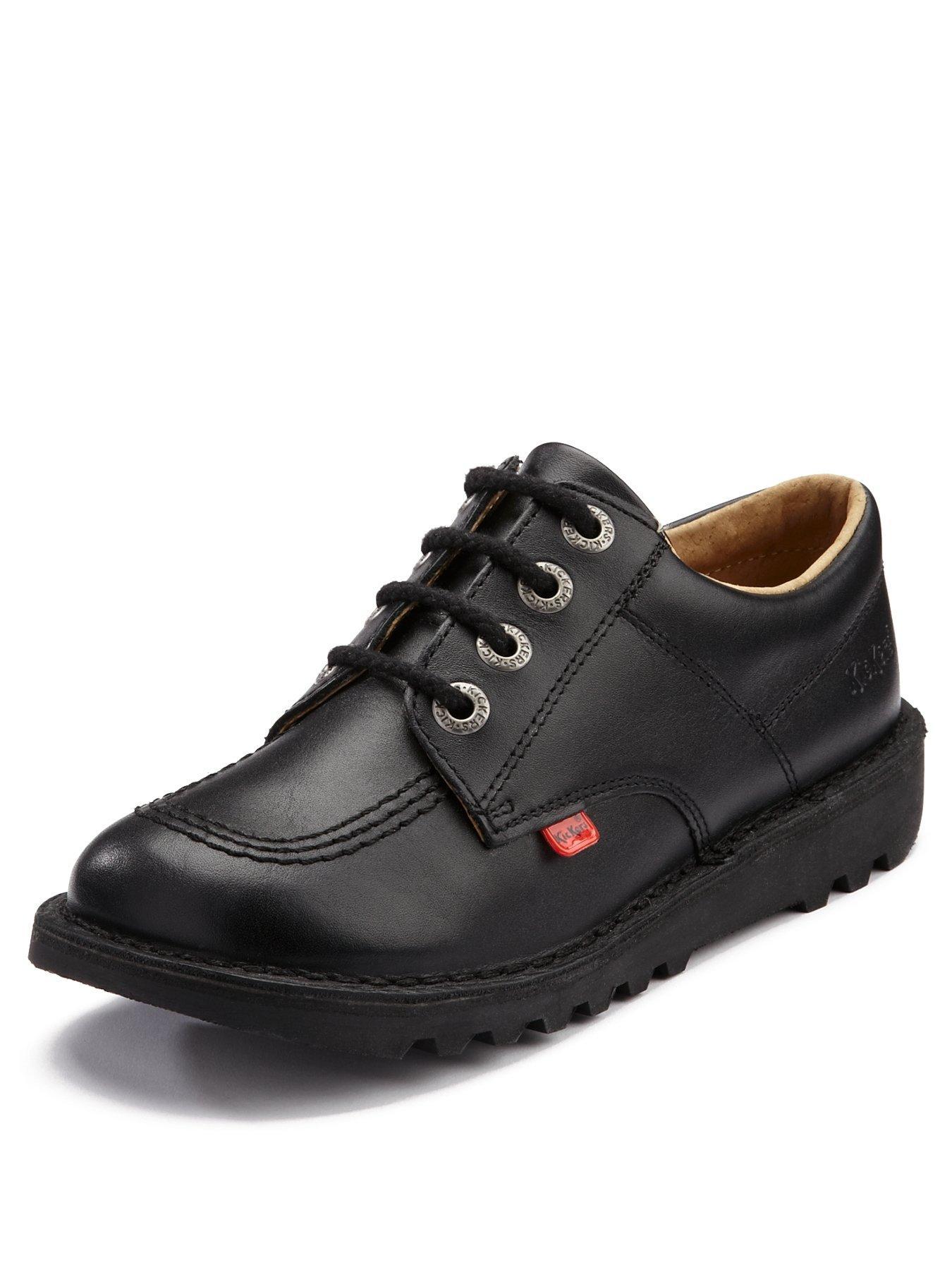 Up Core Kickers co Kick Shoes Lace Leather Lo School uk BlackVery QtrdshCx