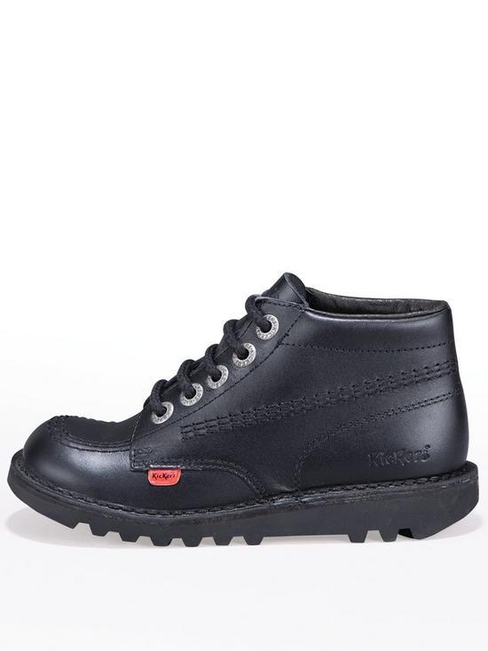 75fac1f4 Kickers Junior Kick Stylee Hi School Shoes - Black | very.co.uk