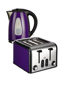 swan-sk13110pust70100pu-fastboil-kettle-and-4-slice-toaster-pack-purple