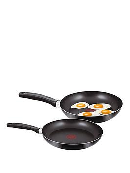 tefal 2 piece 24cm and 28cm frying pan set black very. Black Bedroom Furniture Sets. Home Design Ideas