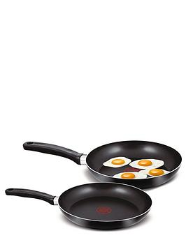 Tefal 2-Piece 24Cm And 28Cm Frying Pan Set - Black Review thumbnail