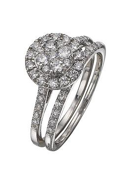 love-diamond-9-carat-white-gold-100pt-diamond-bridal-set
