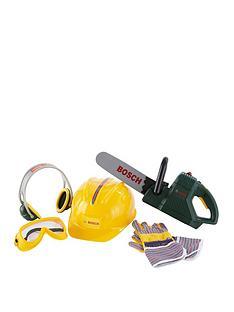 bosch-toy-chainsaw-helmet-and-work-gloves