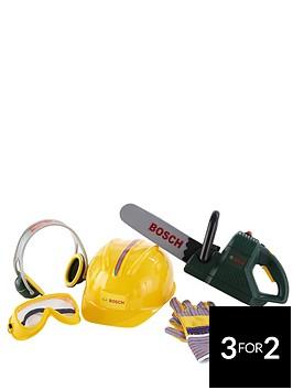 bosch-chainsaw-helmet-and-work-gloves