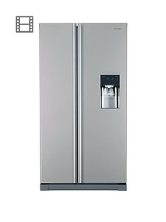 Samsung RSA1RTMG1/XEU American-Style Frost-Free Fridge Freezer with Non Plumbed Water Dispenser - Grey