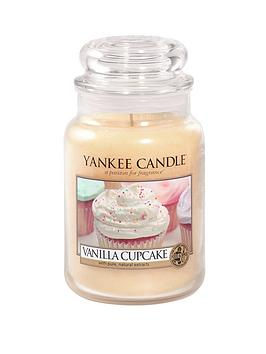 Product photograph showing Yankee Candle Large Jar - Vanilla Cupcake