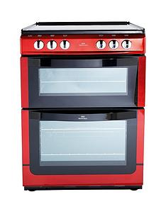 new-world-nwe601edo-60cm-double-oven-electric-cooker-with-optional-connection-red