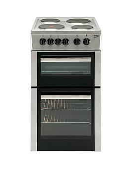 beko-bd533as-50cm-single-fan-oven-electric-cooker-silver