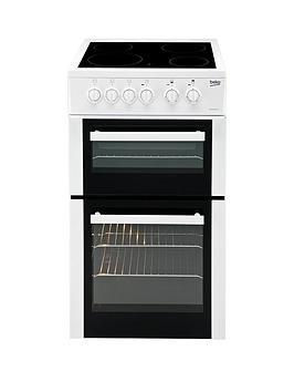 beko-bdvc563aw-50cm-double-oven-electric-cooker-whitenbsp