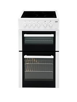 beko-bdvc563aw-50cm-double-oven-electric-cooker-white