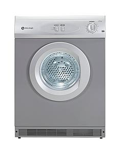 White Knight C44A7S 7kg Load Vented Dryer - Silver
