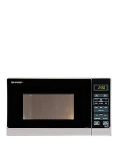 sharp-r272slm-20l-800w-solo-microwave-silver
