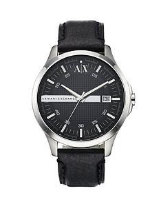 armani-exchange-black-leather-strap-mens-watch