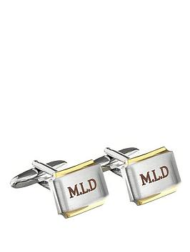 personalised-gold-plated-cufflinks