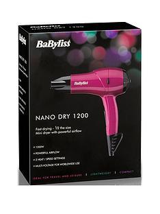 babyliss-5282bau-nano-1200w-hairdryer-pink