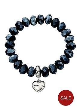 fiorelli-blue-beaded-bracelet-with-silver-tone-heart-charm