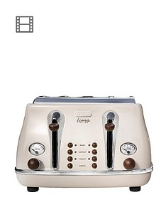 delonghi-ct0v4003bg-vintage-icona-4-slice-toaster-cream