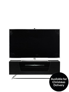 Alphason Chromium TV Stand - fits up to 46 inch TV - Black