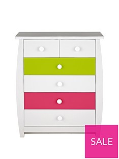 Ladybird Orlando Fresh Kids 4 + 2 Chest of Drawers