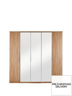 home-essentials--nbspprague-5-door-mirrored-wardrobe