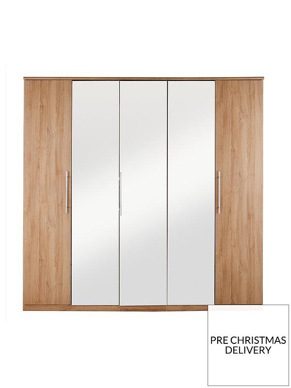 promo code 04b8d 75d0c Prague 5-Door Mirrored Wardrobe