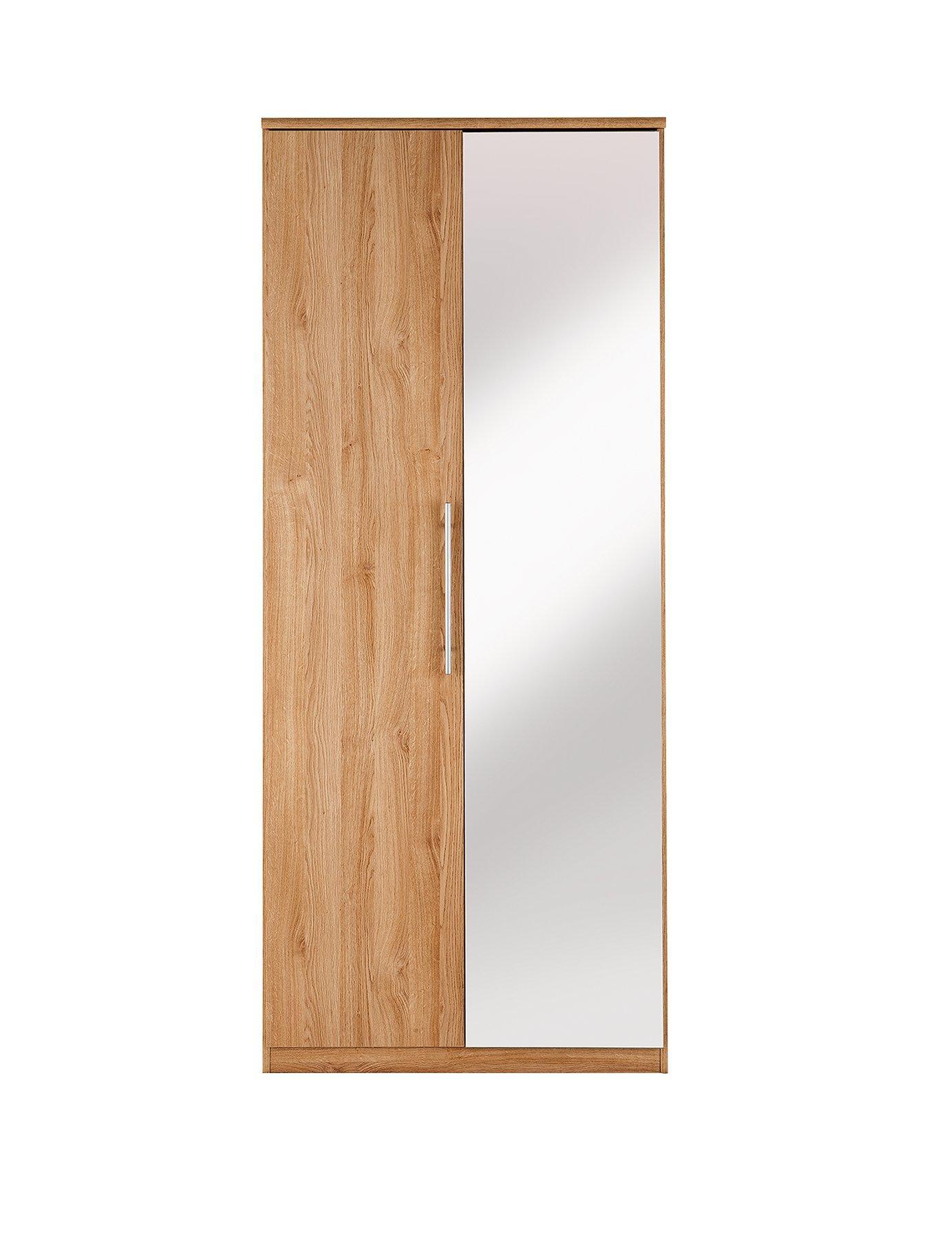 Prague 2 Door Mirrored Wardrobe