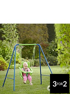 sportspower-small-wonders-toddler-swing-with-nursery-booster-seat