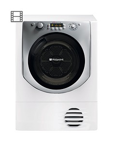 Hotpoint Aqualtis AQC9BF7E1 9kg Load Condenser Tumble Dryer - White