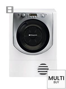 hotpoint-aqualtis-aqc9bf7e1-9kg-load-sensor-condenser-tumble-dryer-white