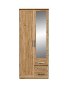 Oslo 2-Door, 3-Drawer Wardrobe
