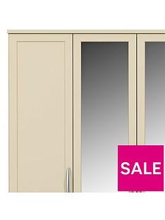 Oslo 5-Door, 3-Drawer Mirrored Wardrobe