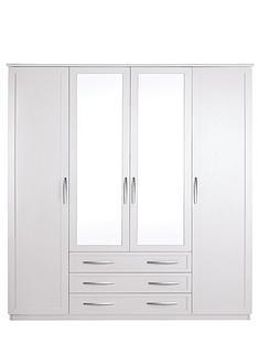 oslo-4-door-3-drawer-mirrored-wardrobe