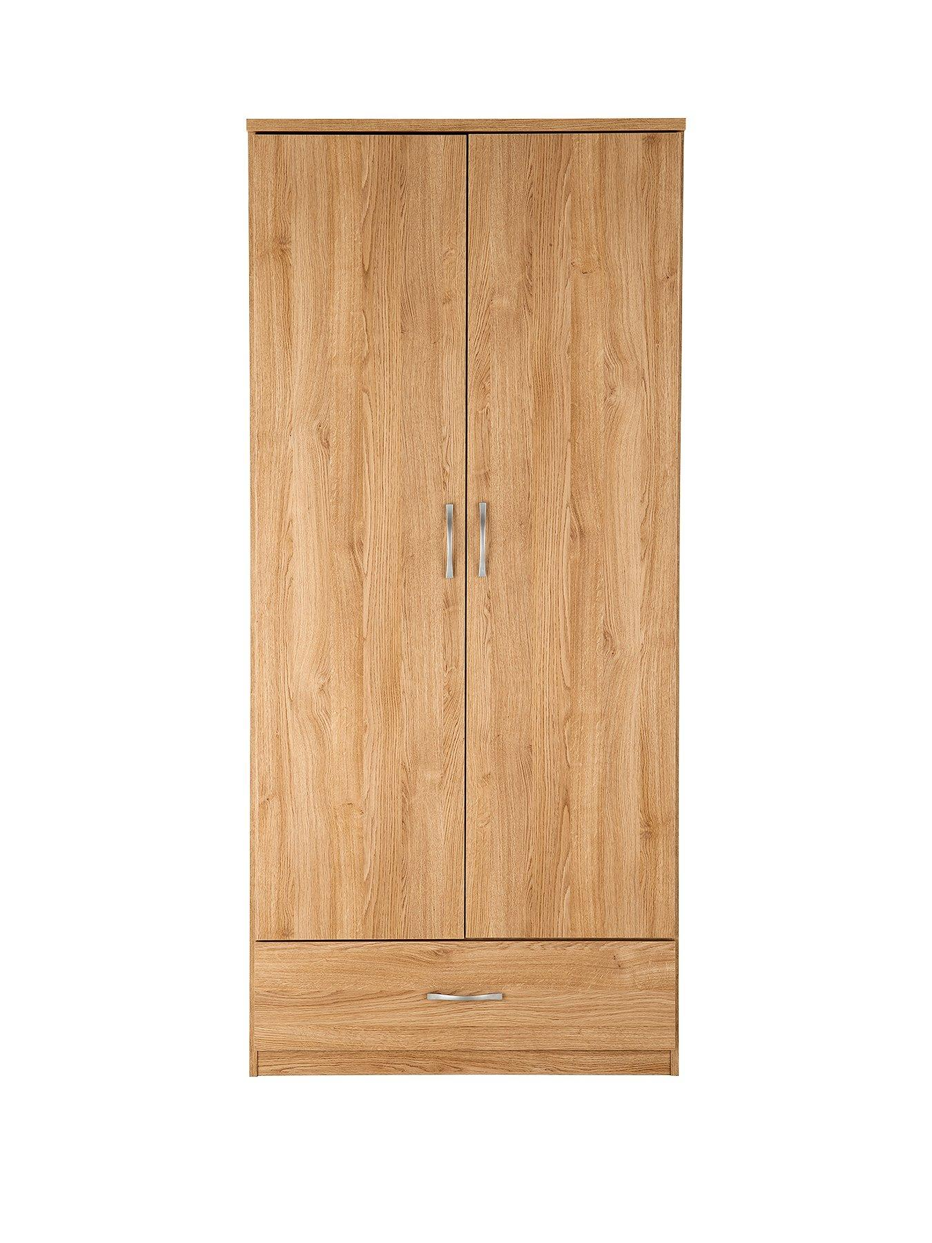 Furniture Bedroom Furniture Cupboard Moderate Price 2 Door Double Wardrobe Mohogany Effect