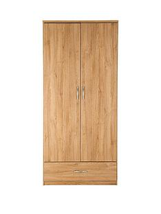 Peru 2-Door, 1-Drawer Wardrobe