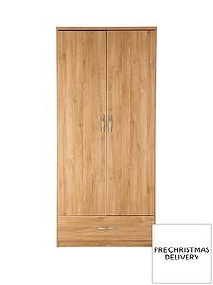 Peru 2-Door, 1-Drawer Wardrobe