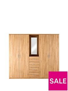 Peru 4-Door, 4-Drawer Combi Fitment Wardrobe